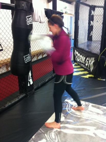 Punching at Storm Gym