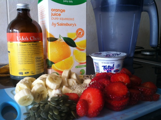 Strawberry & Banana Smoothie Ingredients