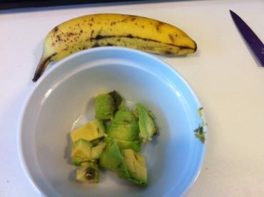 Paleo Breakfast: Banana & Avocado