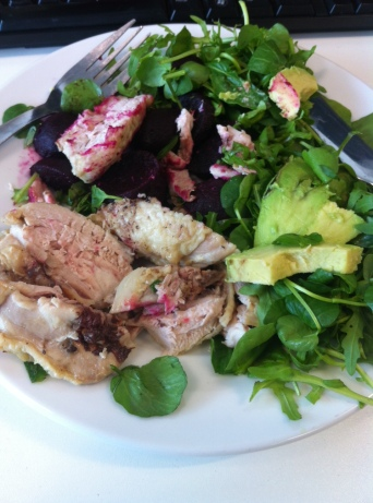 Paleo Lunch: Grilled Chicken with Salad