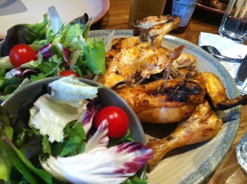 Paleo Dinner: Flame Grilled Chicken & Salad