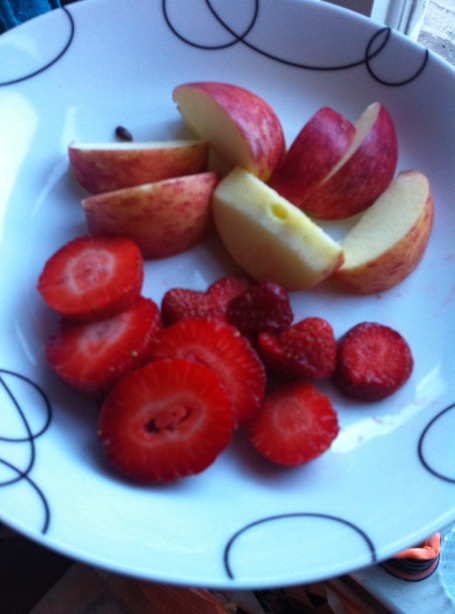 Chopped Apple & Strawberries